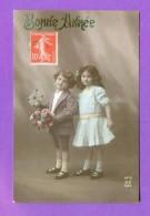 CPA  FANTAISE  ENFANTS  ~   1470  Bonne Année  ( A. Noyer 1912 ) - Fantaisies
