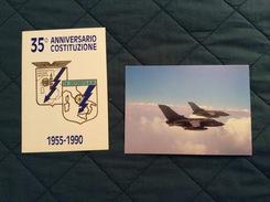 Coppia Di Cartoline Con Annullo 35° Ann. Costituzione Deposito A.M. Di Modena 1955-1990 - Caserme