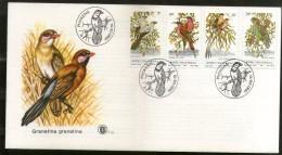 Bophuthatswana 1980 Birds Babbler Parrot Whydah Wildlife Fauna Sc 60-3 FDC  # 16034 - Parrots