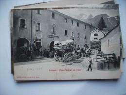 Zwitserland Schweiz Suisse VS Simplon Poste Féderale Postkutsche CP Ancienne Alte Ansichtskarte - VS Valais