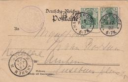 Carte Deutsches Reich Hasserode B.42 1902