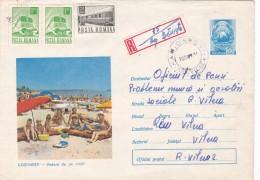 #BV5563  TRAIN STASMPS ON RGD, COVER STATIONERY 1972 ROMANIA. - 1948-.... Republiken