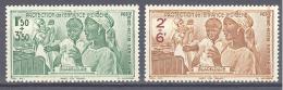Guadeloupe: Yvert N° A 1/2* - Guadeloupe (1884-1947)