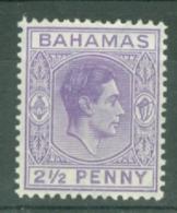 Bahamas: 1938/52   KGVI    SG153a    2½d   Violet  MH - Bahamas (...-1973)