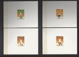 SENEGAL 1987 YT 694/7 ENDANGERED FAUNA Elephant, Phacochere, Autruche, Antilope  DELUXE PROOF 1987 MNH RARE - Senegal (1960-...)