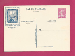 Carte Entier Postal De 1937 - Pexip - Exposition Internationale - Postal Stamped Stationery