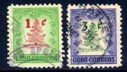 Cuba  Sc# 498-499  Used  Christmas Issue 1951 - Cuba
