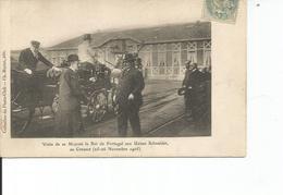 71 -71 Le Creusot Visite De Sa Majesté Le Roi Du Portugal Aux Usines Schneider Novembre 1905 - Le Creusot