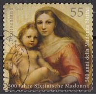"Germania 2012 ""Madonna Sistina"" Quadro Dipinto Da Raffaello Viaggiato Used Paintings Tableaux - Madonne"