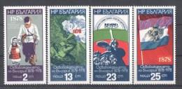 50-924 // BG - 1977  100 JAHRE BEFREIUNG Von Den TUERKEN 1878-1978  Mi 2636/39 ** - Bulgaria