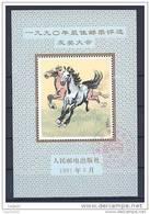 CHINE Vignette Sans Faciale 1991 Cheval Oblitéré Tortue - 1949 - ... People's Republic
