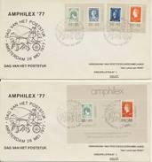 """2 X Amphilex '77 - """"Dag Van Het Poststuk"""" (28-05-1977) - 1949-1980 (Juliana)"""