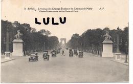 DEPT 75 : 2 Scans : Paris 08 : L Avenue Des Champs Elysées Et Les Chevaux De Marly - District 08
