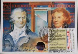 CP. - 1er JOUR 1989 - Bicent. De La Révolution Française - DANTON - FABRE D'EGLANTINE - Versaill Le 26.08.1989 - SUPERBE - Cartes-Maximum