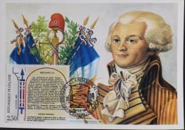 CP. - 1er JOUR 1989 - Bicent. De La Révolution Française - ROBESPIERRE - Versailles Le 26.08.1989 - SUPERBE - 1980-89