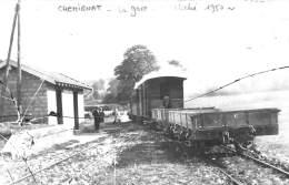 01 - Ain - Chemignat - Cliché Original 1950 - Gare - Ligne Bourg à La Madeleine Et St Laurent Les Macon - France