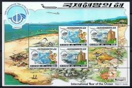 NORTH KOREA 1998 INTERNATIONAL YEAR OF THE OCEAN SHEETLET - Holidays & Tourism