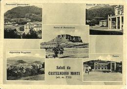 Castelnuovo Monti (Castelnovo Nè Monti) (Reggio E.) Panorama, Appennino, Teatro, P.za Martiri Libertà, Pietra Bismantova - Reggio Emilia