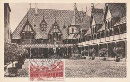 D27296 CARTE MAXIMUM CARD TRIPLE 1953 FRANCE - HOSPICES DE BEAUNE CP ORIGINAL - Architecture