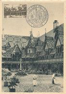 D27297 CARTE MAXIMUM CARD TRIPLE 1953 FRANCE - HOSPICES DE BEAUNE CP ORIGINAL - Architecture