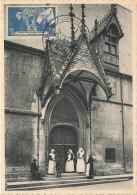 D27298 CARTE MAXIMUM CARD TRIPLE 1943 FRANCE - HOSPICES DE BEAUNE CP ORIGINAL - Architecture