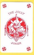 The Jolly Joker - Rouge Avec étoiles Rouges - Verso Voyages Dubray Charleroi, Mont-Sur-Marchienne - Speelkaarten