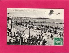 Rare, 85 VENDEE, LES SABLES D'OLONNE, Pendant Une Semaine De L'Aviation, Animée, Avion, 1916, (L. Amiaud) - Sables D'Olonne