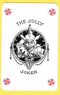 The Jolly Joker - Noir Avec étoiles Rouges - Verso Eurobel Assurances - Speelkaarten