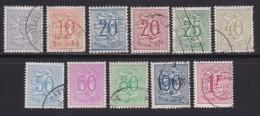 BELGIUM, 1950, Used Stamp(s), Definitives,   MI 889=897,  #10349, 11 Values Only - 1936-1951 Poortman