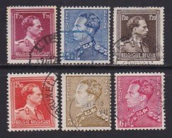 BELGIUM, 1950, Used Stamp(s), Definitives Leopold III,   MI 874=901  #10350, 6 Values Only - 1936-1951 Poortman