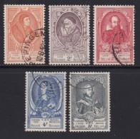 BELGIUM, 1952, Used Stamp(s), U.P.U. Von Taxis,    MI 927=940  #10352, 5 Values Only - Belgium