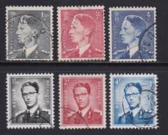 BELGIUM, 1952, Used Stamp(s), Baudouin    MI 949=975  #10353, 6 Values Only - Belgium