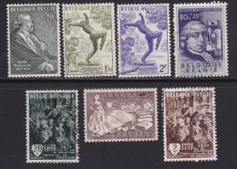 BELGIUM, 1955, Used Stamp(s), Various,  MI 1016=1023, #10358, 7 Values Only - Belgium