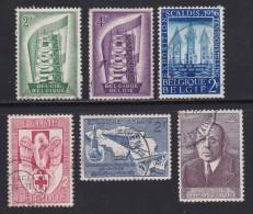 BELGIUM, 1956, Used Stamp(s), Various,  MI 1035=1053,  #10359, 6 Values Only - Belgium