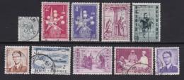 BELGIUM, 1957, Used Stamp(s), Various,  MI 1054=1090,  #10360, 10 Values Only - Belgium