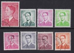 BELGIUM, 1958, Used Stamp(s), Baudouin,   MI 1125=1134,  #10362, 8 Values Only - Belgium