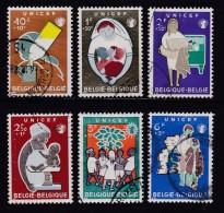 BELGIUM, 1960, Used Stamp(s), Unicef,   MI 1212-1217,  #10370, Complete - Belgium