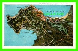 MAP OF THE MONTEREY PENINSULA, CA - B. W. WHITE - - Maps