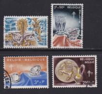 BELGIUM, 1960, Used Stamp(s), TBC,   MI 1222=1227,  #10372, 4 Values Only - Belgium