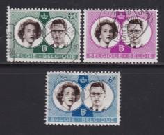 BELGIUM, 1960, Used Stamp(s), Wedding Baudouin,   MI 1228-1230,  #10373, Complete - Belgium