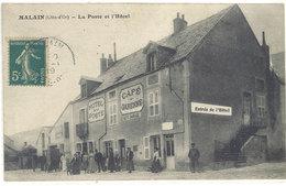 Cpa Malain - La Poste Et L'Hôtel       ((S.1117)) - France