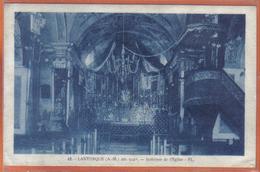 Carte Photo 06. Lantosque  Intérieur De L'église  Trés Beau Plan - France
