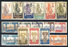 Gabon 1910 Serie N. 33-48 Con Dicitura Congo Francais Gabon USATI Catalogo € 1150 Certicato Biondi - Used Stamps