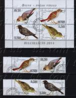 2014 Songbirds 4v.+ S/S  - Used/oblitere (O) Bulgaria / Bulgarie - Bulgaria