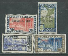 "Inini N° 53 / 56  X Timbres De Guyane Surchargés""Territoire De Lnini"" Sans ""RF"" : Les 4 Vals Trace Charnière Sinon TB"