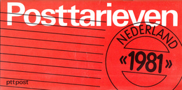 Nederland - PTT Post - Brochure Tarieven 1981 - 30 Pagina's - Nieuw Exemplaar - Postal Rates