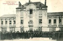 Cpa YVETOT 76 Inauguration De L' Ecole Communale De Filles - Yvetot
