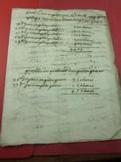 Vecchia Fatturo Di 1752 Anguille Pesci TESTAMONNO MONT ANGUILLOS ANCIENNE FACTURE ITALIA Vieux Papiers Manuscrit Lire.. - Manuscripten