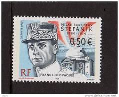 FRANCE-SLOVAQUIE 2003-un Timbre (1) YT N°3554**-Hommage A Milan Radislav STEFANIK 0.50€ - France