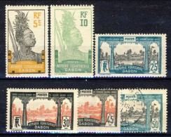 Gabon 1922 Serie N. 82-87 Tipi Del 1910-18 Afrique Equatoriale Francaise MH (1 Usato) Catalogo € 10 - Nuovi